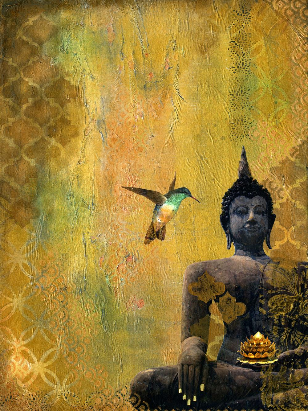 Buddha And The Hummingbird