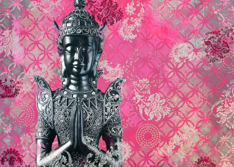 Buddha in Pink Print